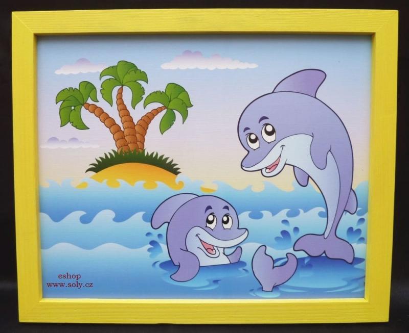 Delphin, Delphin, Meer Kinder gemalte Bilder Bild für Kinderzimmer