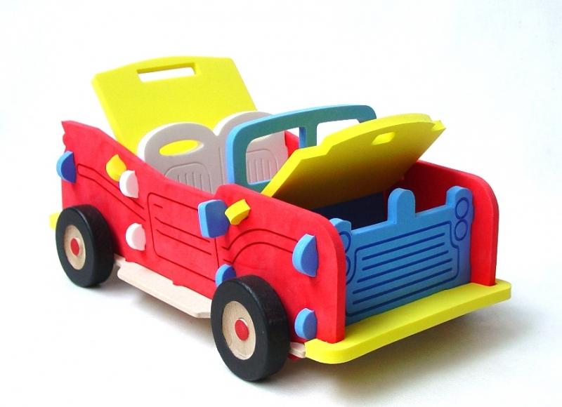 Riesiges Kinderauto Cabrio – Bausatz, Spielzeug