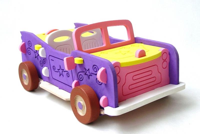 Großes Cabrio als 3D-Puzzle für Mädchen