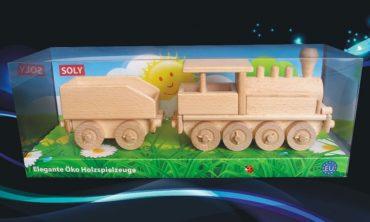 Holzzüge Dampflokomotive Holzspielzeug für Jungen