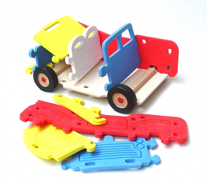 ger Jeep Offroad-Bausatz, großes Schaumstoffspielzeugpenová hračkaroad-jeep-stavebnice
