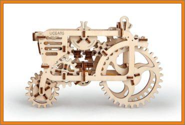 Traktor Holzpuzzle, 3D technisches Spielzeug Kit