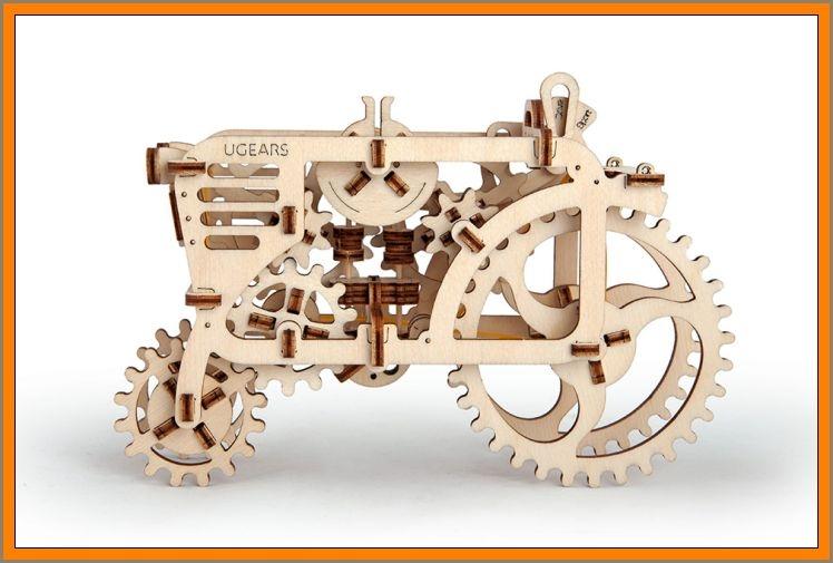 Traktor Holzpuzzle, 3D technisches Spielzeug-Kit