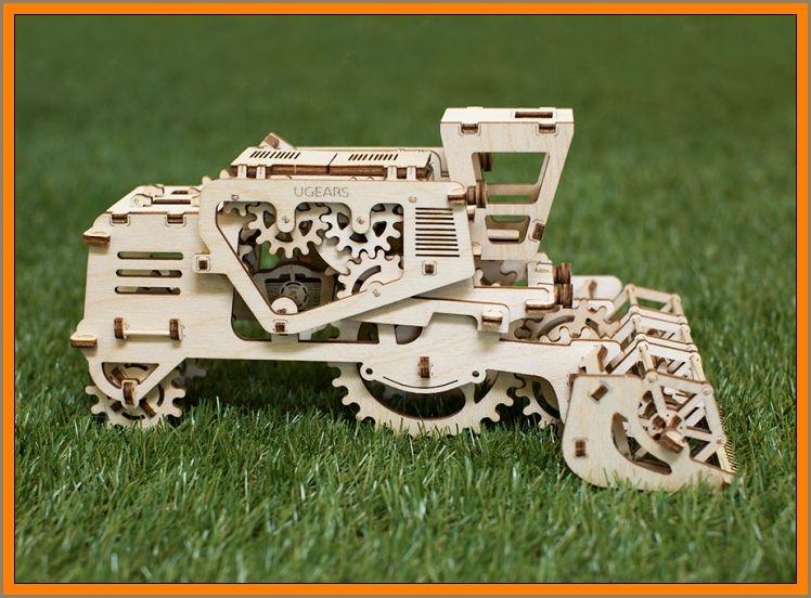 Mähdrescher, mechanisches Puzzle, technisches 3D-Kit, Spielzeug