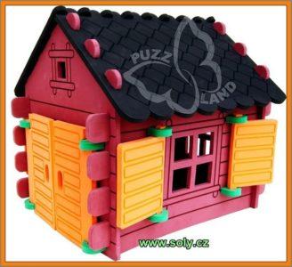 Blockhaus, Häuschen Spielzeugset sicher, tschechische Produktion