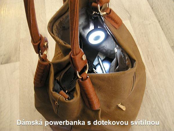 Damen LED Taschenlampe, Taschenlampe in einer Tasche mit 500 mAh PowerBank