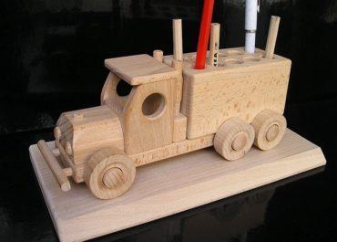Autoständer für Stifte, Bleistifte, Kugelschreiber Firmengeschenke aus Holz