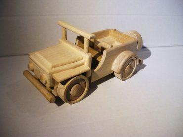 Jeep Offroad Auto aus Holz Holz Militärgeschenk