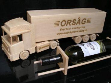 Wein, Alkoholwagen Holzgeschenk für LKW-Fahrer