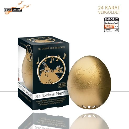 Goldenes Ei BeepEgg GOLD Eierkocher Minute zum Kochen von Eiern