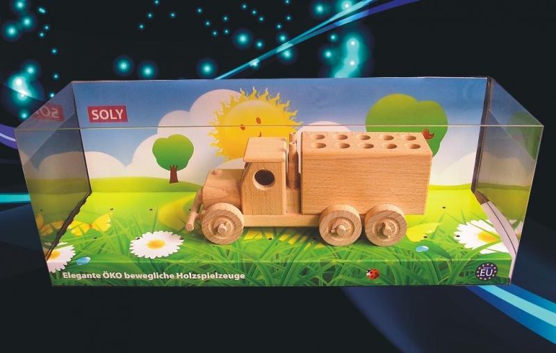 Spielzeuglastwagen Holzstifthalter