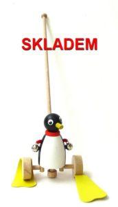 Pinguin Holzpinguin Spielzeug, für 1 bis 2 Jahre alt