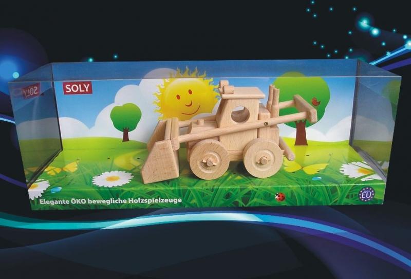 Landwirtschaftlicher Lader, Spielzeug, Bulldozer, Holzspielzeug
