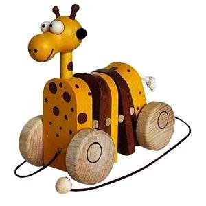 Ziehen Holzspielzeug Giraffe Spielzeug