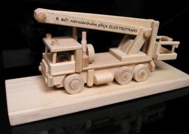 Montage, Autoplattform, Gabelstapler Holzgeschenk, Spielzeug