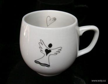 Porzellantasse, Engelsmotivbecher für Kaffee, Tee 0,3 l