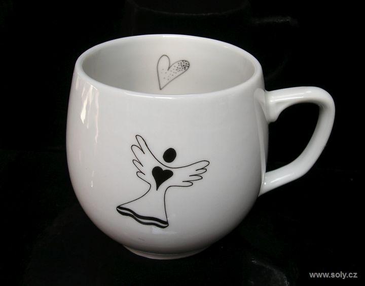 Porzellanbecher, Engelsmotivbecher für Kaffee, 0,3lem Tee
