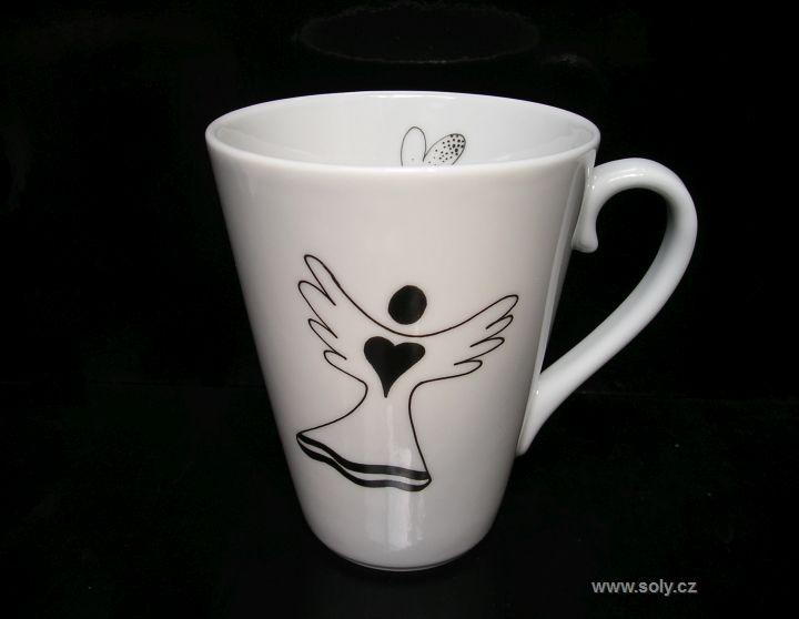 Becher, Porzellantassen für Tee, Kaffee mit Engelsmotiv 0,2 l