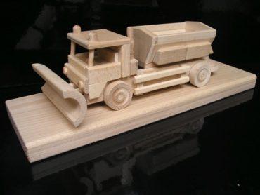 Schneepflüge Holzspielzeug Geschenke für Fahrer