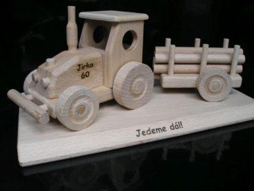 Traktor Holzgeschenke für Fahrer Schubkarren, Holzspielzeug