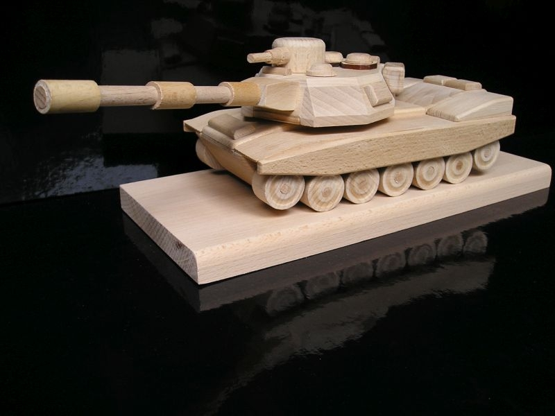 Militärpanzer Holzgeschenk für Figuren