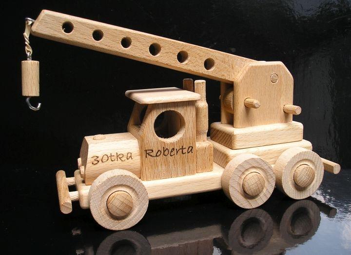 Spielzeug Holzkran
