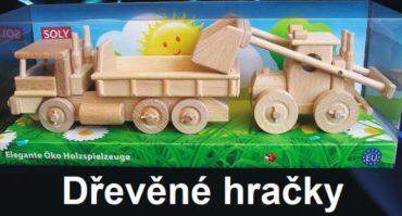 Holzlastwagen und Bulldozer Holzgeschenke und Spielzeug