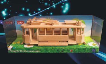 Straßenbahn Holzgeschenke für Fahrer, Ramvaj Holzspielzeug
