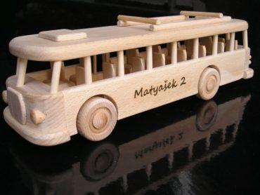 Holzbus rto Spielzeuggeschenk