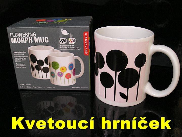 Selbstfärbende Tee- oder Kaffeetassen mit thermischem Blumenmotiv