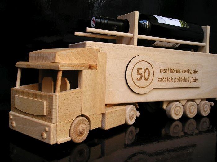 Geschenk für LKW zum 50. Geburtstag Holzgeschenke und Spielzeug Geburtstag des LKW-Fahrers