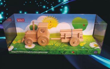 Kindertraktor für Jungen zum Spielen Holzspielzeug Holzgeschenk mit Abstellgleis, Kinderspielzeug, Holzgeschenke Holzgeschenke für Schubkarrenfahrer, Holzspielzeug