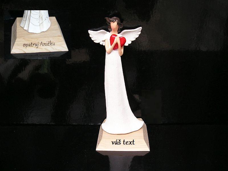 Engelsfigur Geschenkherz Holzgeschenke