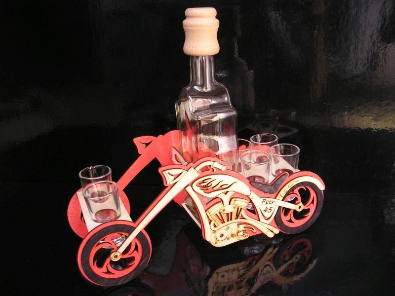 Geschenkflasche und Glas für Alkohol für Biker Geschenkflasche für Motorradfahrer Geschenk, Flasche, Alkoholglas