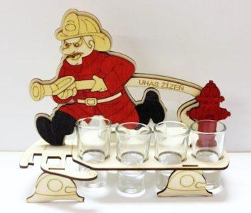 Geschenkglas, Alkoholflasche Feuerwehrmann Geschenk, Flasche, Alkoholglas