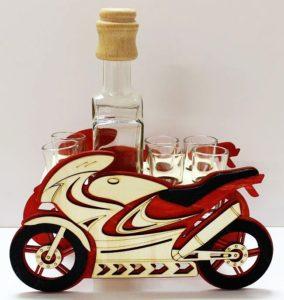 Geschenk Motorrad Alkoholflasche Geschenk, Flasche, Alkoholglas