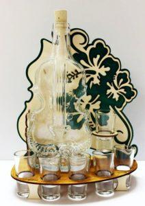 Geschenkglas Alkoholflasche Geige, VIOLA