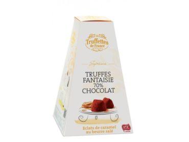 Truffettes de France Pralinen 70% mit Karamellen und gesalzener Butter Schokolade für Frauen