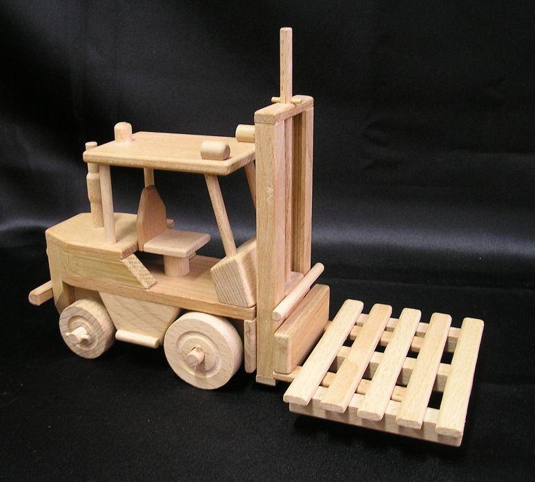 Gabelstapler Spielzeug Holzspielzeug Geschenk