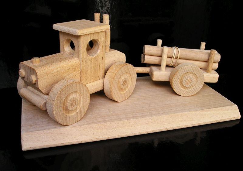 Forsttraktor Holzspielzeug Geschenke aus Holz für Fahrer