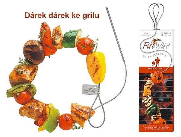 Flexible lange Grillspießnadel aus Edelstahl
