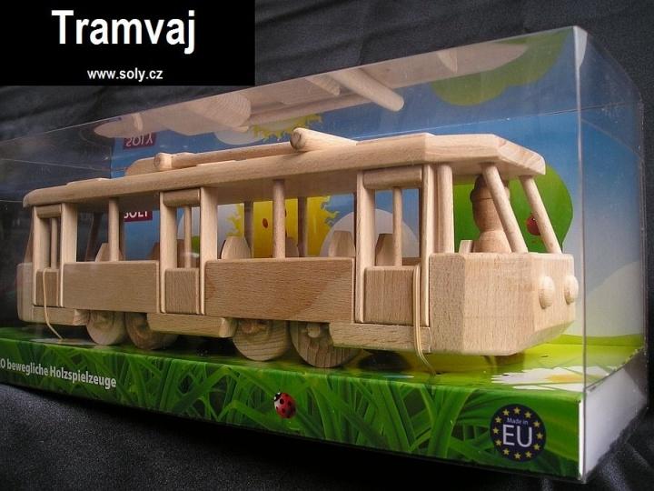 Spielzeug, Straßenbahn Holzgeschenke Holzspielzeug Modell-