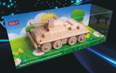 Militärtransporter, Panzer. Holzspielzeug, Geschenke für Soldaten