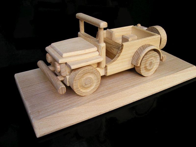Jeep US Offroad Militärauto Holz, Spielzeug, Geschenke für Fahrer