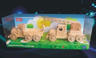 Holzspielzeug, LKW für Kinder + LKW-Kran
