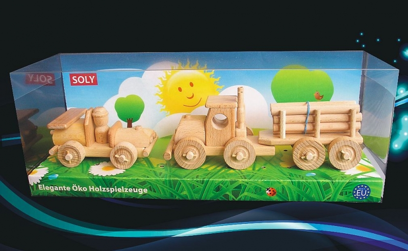 Holz, Spielzeugauto und LKW mit Holz Holzspielzeug