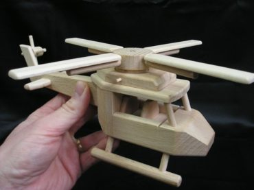 Hubschrauber, Spielzeug Holzgeschenke