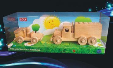 Umzugswagen und Auto Holzspielzeug