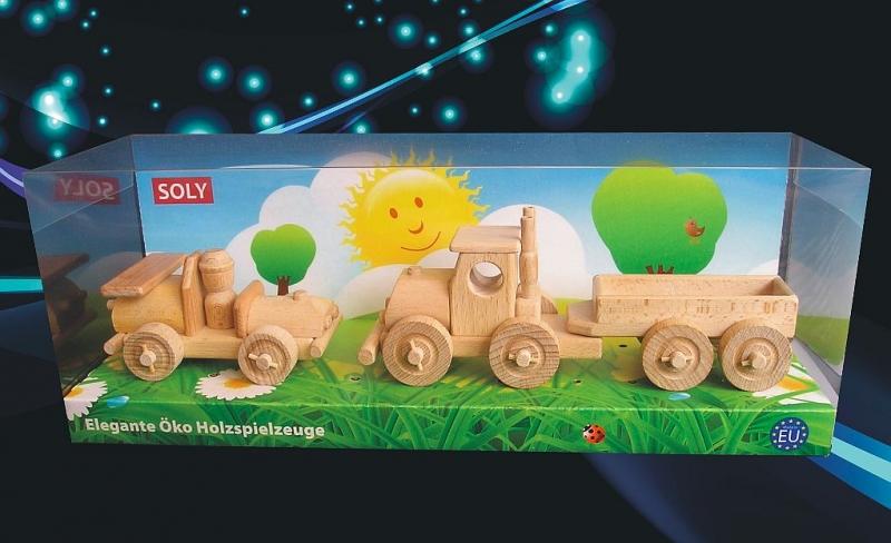 Holzspielzeugauto und LKW für Kinder Holzspielzeug für Kinder