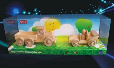Holzspielzeug. Kinderspielzeug Auto + LKW